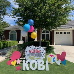 Birth Announcement Yard Sign in Bakersfield